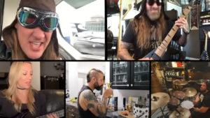 Varsin nimekäs ryhmä Iron Maidenin parissa – karanteenivideolla mukana mm. Avenged Sevenfoldin ja Alice Cooperin yhtyeen jäseniä